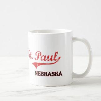 Obra clásica de la ciudad de San Pablo Nebraska Taza De Café