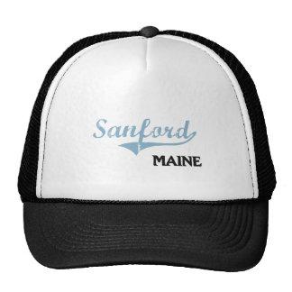 Obra clásica de la ciudad de Sanford Maine Gorras