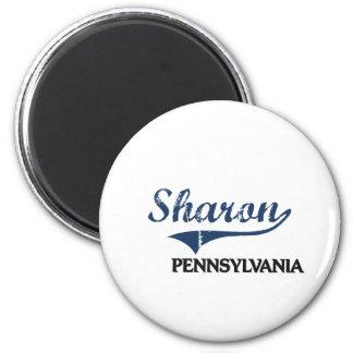 Obra clásica de la ciudad de Sharon Pennsylvania Imán Redondo 5 Cm