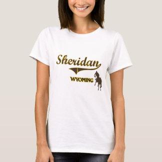 Obra clásica de la ciudad de Sheridan Wyoming Playera