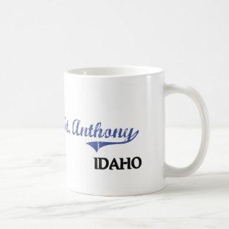 Obra clásica de la ciudad de St Anthony Idaho Tazas