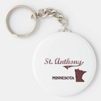 Obra clásica de la ciudad de St Anthony Minnesota Llaveros