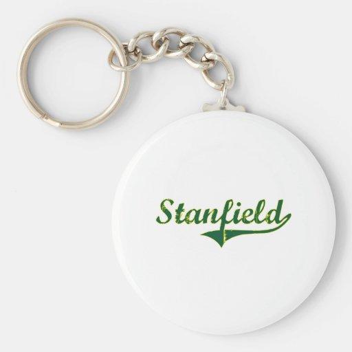Obra clásica de la ciudad de Stanfield Oregon Llavero Redondo Tipo Pin