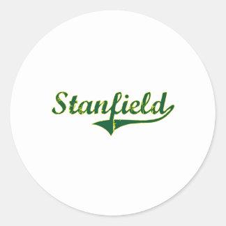 Obra clásica de la ciudad de Stanfield Oregon Pegatinas