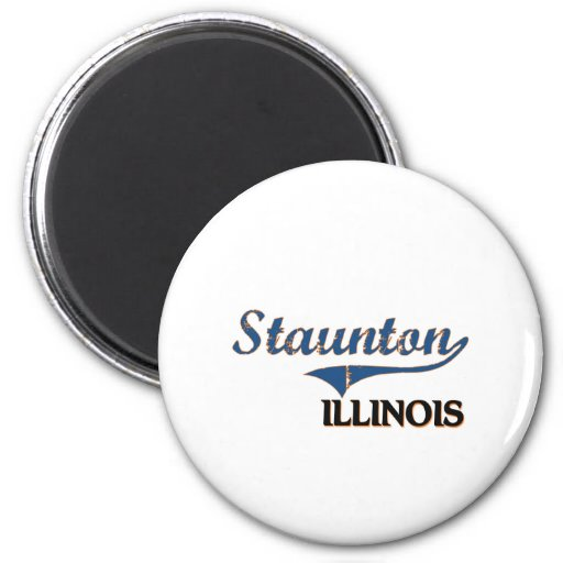 Obra clásica de la ciudad de Staunton Illinois Imán De Frigorifico