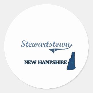 Obra clásica de la ciudad de Stewartstown New Etiqueta Redonda