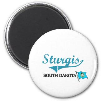 Obra clásica de la ciudad de Sturgis Dakota del Su Imán Redondo 5 Cm