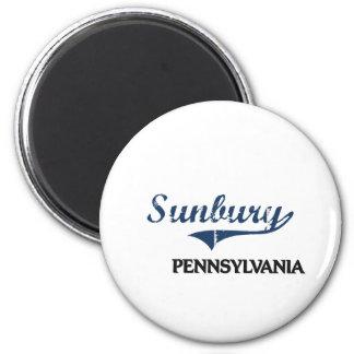 Obra clásica de la ciudad de Sunbury Pennsylvania Imán Redondo 5 Cm