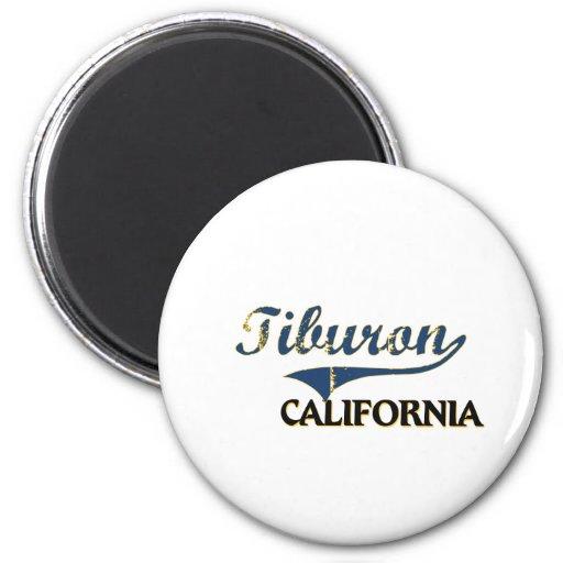 Obra clásica de la ciudad de Tiburon California Iman De Frigorífico
