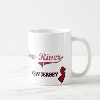 Obra clásica de la ciudad de Toms River New Jersey Tazas De Café