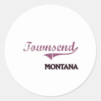 Obra clásica de la ciudad de Townsend Montana Pegatinas Redondas