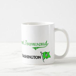 Obra clásica de la ciudad de Townsend Washington d Tazas De Café