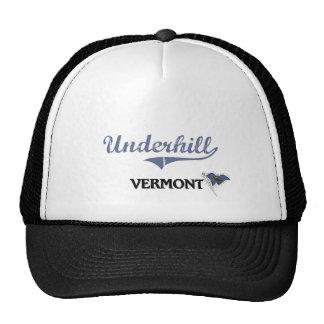 Obra clásica de la ciudad de Underhill Vermont Gorras