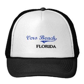 Obra clásica de la ciudad de Vero Beach la Florida Gorra