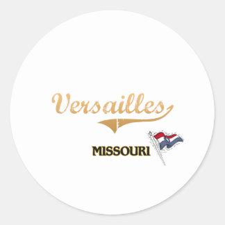 Obra clásica de la ciudad de Versalles Missouri Pegatina Redonda