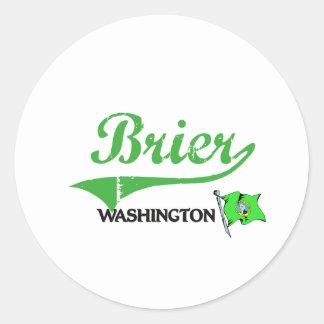 Obra clásica de la ciudad de Washington del Brier Etiqueta Redonda