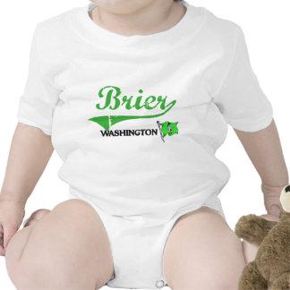 Obra clásica de la ciudad de Washington del Brier Traje De Bebé
