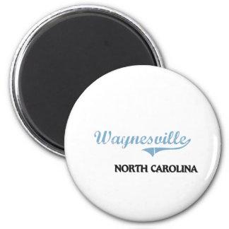Obra clásica de la ciudad de Waynesville Carolina  Imán Redondo 5 Cm