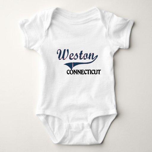Obra clásica de la ciudad de Weston Connecticut Playeras