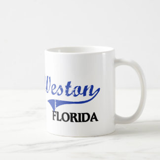 Obra clásica de la ciudad de Weston la Florida Taza De Café