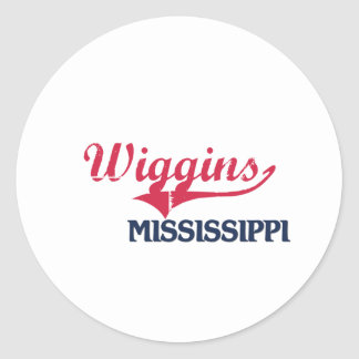 Obra clásica de la ciudad de Wiggins Mississippi Pegatinas Redondas