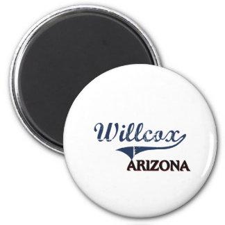 Obra clásica de la ciudad de Willcox Arizona Imán Redondo 5 Cm