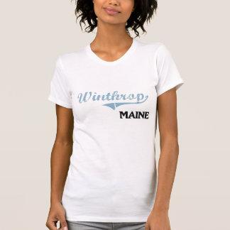 Obra clásica de la ciudad de Winthrop Maine Camiseta