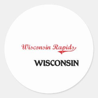 Obra clásica de la ciudad de Wisconsin de los Etiquetas Redondas