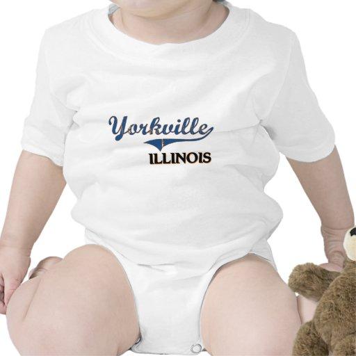 Obra clásica de la ciudad de Yorkville Illinois Trajes De Bebé