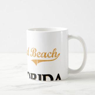 Obra clásica de la Florida de la playa de Hollywoo Tazas