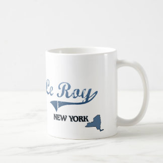 Obra clásica de Le Roy New York City Taza Básica Blanca