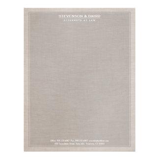 Obra clásica de lino de la mirada de la textura de plantillas de membrete