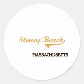 Obra clásica de Massachusetts de la playa de Pegatina Redonda