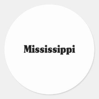 Obra clásica de Mississippi Pegatinas Redondas