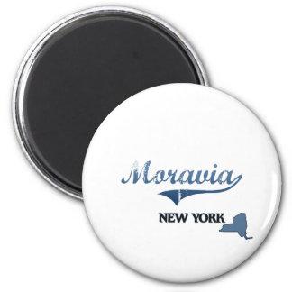 Obra clásica de Moravia New York City Imanes Para Frigoríficos