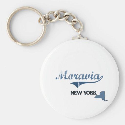 Obra clásica de Moravia New York City Llavero Personalizado