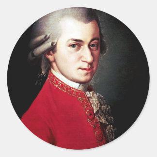 Obra clásica de Mozart Pegatina Redonda