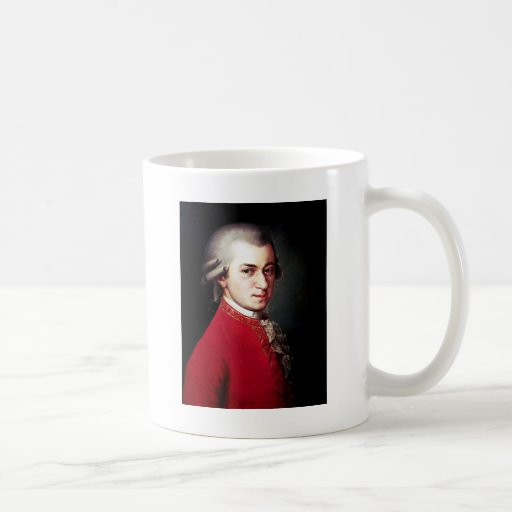 Obra clásica de Mozart Taza Básica Blanca