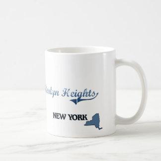 Obra clásica de New York City de las alturas de Taza Básica Blanca