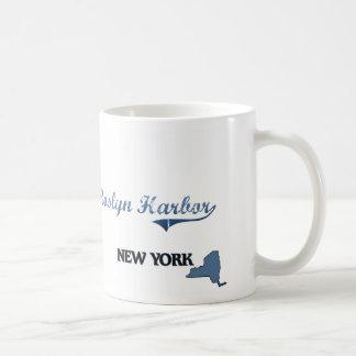 Obra clásica de New York City del puerto de Roslyn Taza Básica Blanca