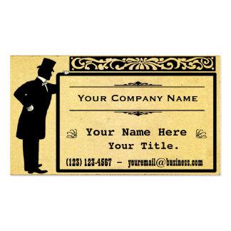 Obra clásica de papel vieja del caballero del tarjetas de visita