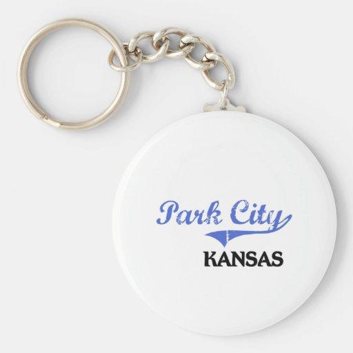 Obra clásica de Park City Kansas City Llaveros Personalizados