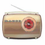 Obra clásica de radio retra esculturas fotográficas