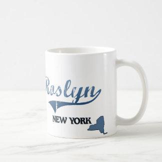 Obra clásica de Roslyn New York City Taza Básica Blanca