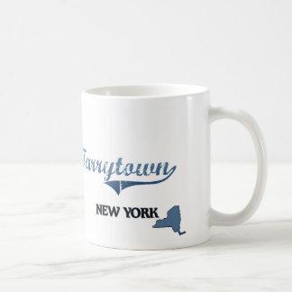 Obra clásica de Tarrytown New York City Taza De Café