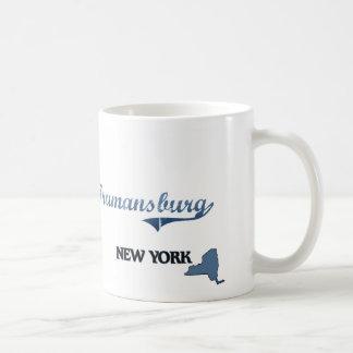 Obra clásica de Trumansburg New York City Taza Básica Blanca