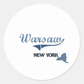 Obra clásica de Varsovia New York City Etiqueta Redonda