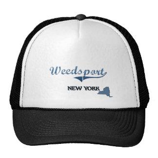 Obra clásica de Weedsport New York City Gorras De Camionero