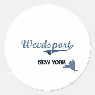 Obra clásica de Weedsport New York City Etiquetas