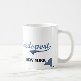 Obra clásica de Weedsport New York City Taza De Café